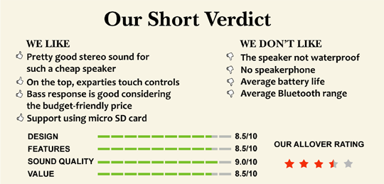 Doss SoundBox short verdict